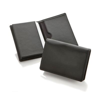 Picture of ECONOMY BUSINESS CARD DISPENSER in Black Belluno PU Leather