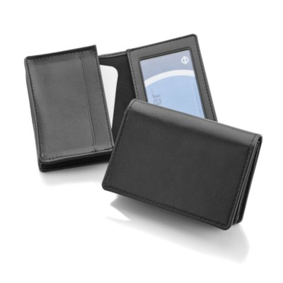 Picture of DELUXE BUSINESS CARD DISPENSER in Black Belluno PU Leather