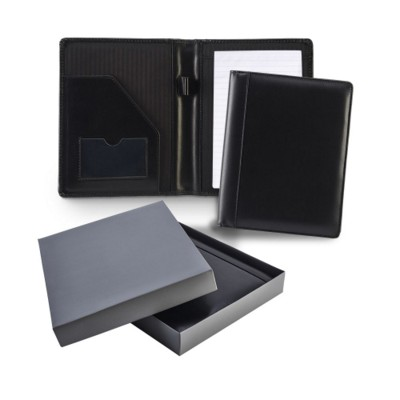 Picture of ASCOT HIDE LEATHER A5 CONFERENCE FOLDER in Black