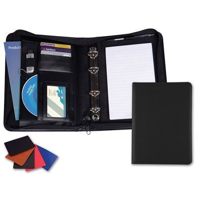 Picture of A5 DELUXE ZIP RING BINDER in Matt Lustre Velvet Touch Torino PU Leather