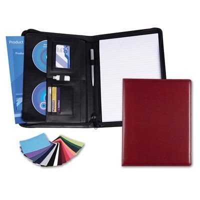 Picture of BELLUNO PU DELUXE ZIP CONFERENCE FOLDER in Black