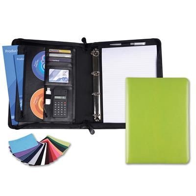 Picture of BELLUNO PU DELUXE ZIP CONFERENCE FOLDER in a Choice of 22 Colours