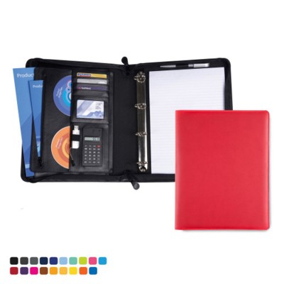 Picture of TORINO PU A4 DELUXE ZIP CONFERENCE FOLDER