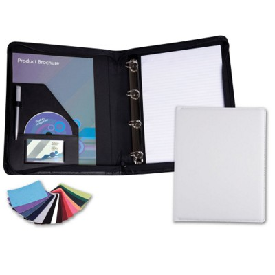Picture of BELLUNO PU ZIP RING BINDER in Black