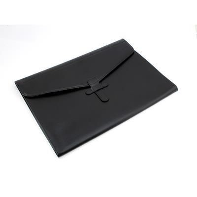 Picture of BLACK BELLUNO PU ENVELOPE STYLE UNDERARM PORTFOLIO & LAPTOP SLEEVE with Strap
