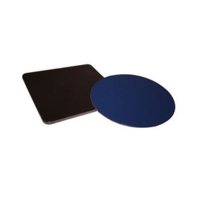 Picture of SIMPLE ROUND COASTER in Black Bonded Leather Board