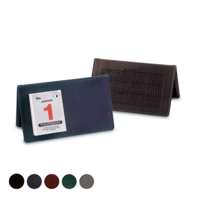 Picture of LEATHER DESK TOP CALENDAR in Hampton Finecell Leather