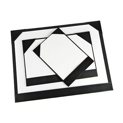 Picture of A4 DESK PAD BLOTTER in Black E Leather