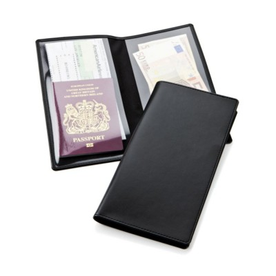Picture of ECONOMY TRAVEL WALLET in Black Belluno PU