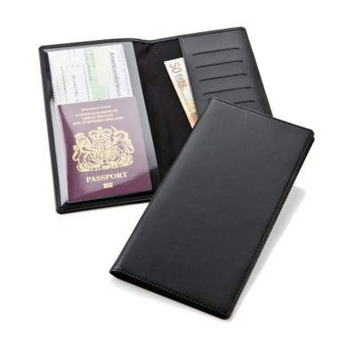 Picture of TRAVEL WALLET in Black Belluno Leather Look PU