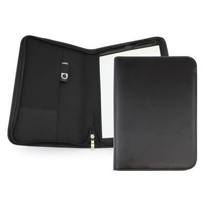 Picture of CLAPHAM PU A5 ZIP CONFERENCE FOLDER