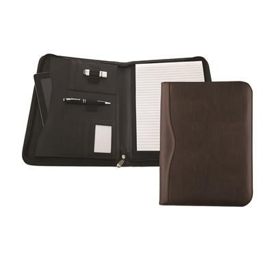 Picture of HOUGHTON PU DELUXE ZIP AROUND FOLDER with Tablet or Laptop Pocket