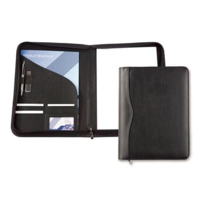 Picture of HOUGHTON PU A4 ZIP AROUND CONFERENCE FOLDER in Black