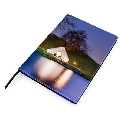 Picture of A4 CASEBOUND NOTE BOOK COVER in Leather Look PU