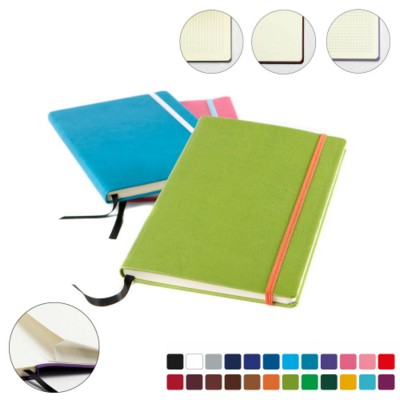 Picture of A5 CASEBOUND NOTE BOOK in a Choice of Belluno Colours