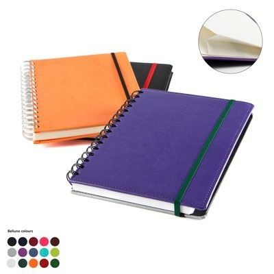 Picture of A5 WIRO NOTE BOOK with Elastic Strap in Belluno PU Leather