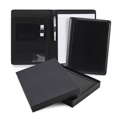Picture of SANDRINGHAM NAPPA LEATHER CONFERENCE FOLDER in Black