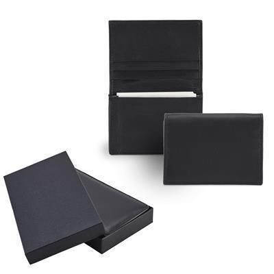 Picture of SANDRINGHAM NAPPA LEATHER BUSINESS CARD HOLDER in Black