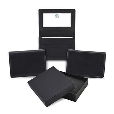 Picture of SANDRINGHAM NAPPA LEATHER TRAVEL CARD & BUSINESS CARD HOLDER in Black