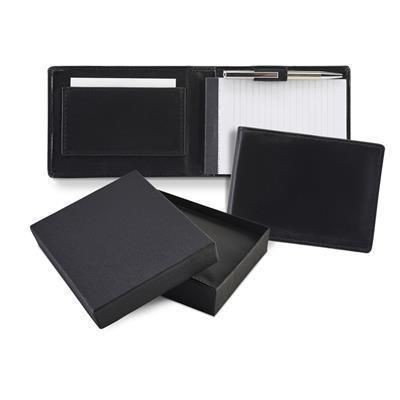 Picture of SANDRINGHAM NAPPA LEATHER FLIP UP NOTE BOOK & PEN