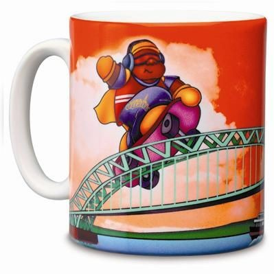 Picture of DYE SUBLIMATION CERAMIC POTTERY MUG in White