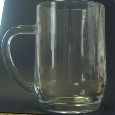 Picture of PINT TANKARD BEER GLASS in Clear Transparent