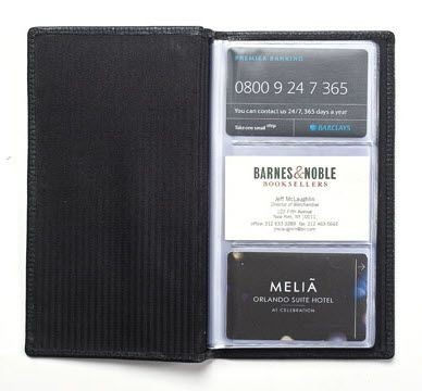 Picture of LEATHER BUSINESS CARD FILE