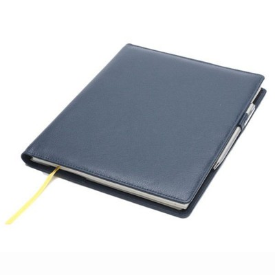 Picture of CHELSEA LEATHER COMB BOUND QUARTO DESK NOTE BOOK WALLET