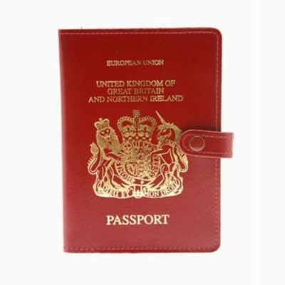 Picture of PASSPORT WALLET with Stud Fastener, Ticket & Document Pockets
