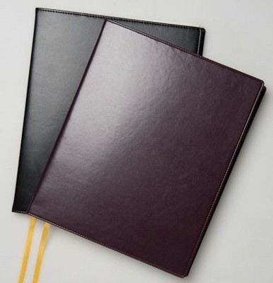 Picture of RECYCLED LEATHER COMB BOUND DESK WALLET with Comb Bound Diary Insert