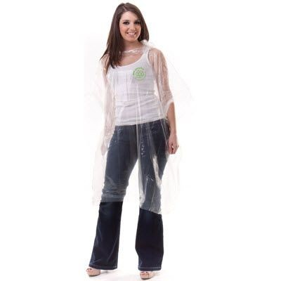 Picture of ECO PROMOTIONAL PONCHO in Clear Transparent