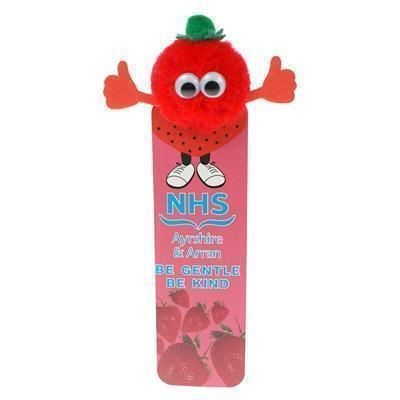 Picture of HEALTHY EATING STRAWBERRY BOOKMARK AD-BUG