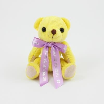 Picture of 12CM BOW LEMON CANDY BEAR