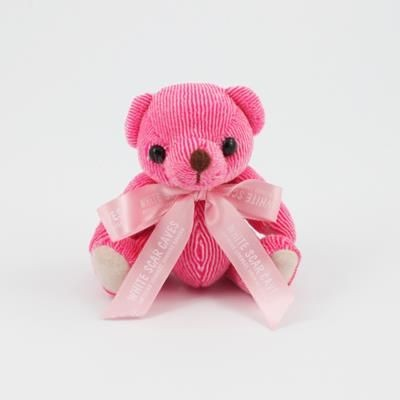 Picture of 12CM BOW RASPBERRY CANDY BEAR