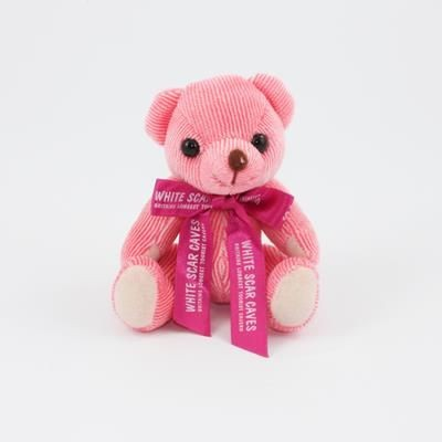 Picture of 12CM BOW STRAWBERRY CANDY BEAR