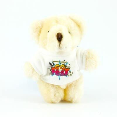 Picture of 9CM JOINTED BABY BEAR with Satin Sash