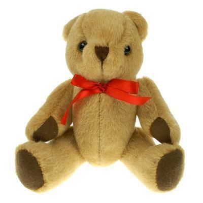 Picture of 20CM PLAIN HONEY JOINTED BEAR