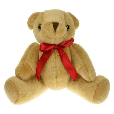 Picture of 25CM PLAIN HONEY JOINTED BEAR