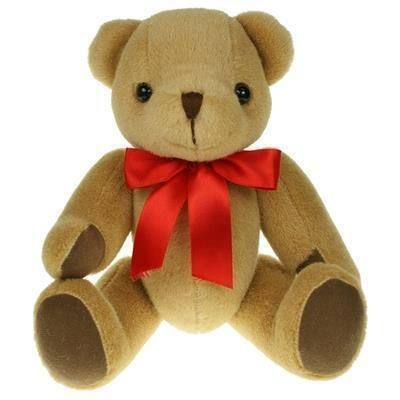 Picture of 30CM PLAIN HONEY JOINTED BEAR