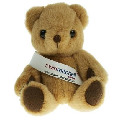 Picture of 13CM HONEY JOINTED BEAR with Sash