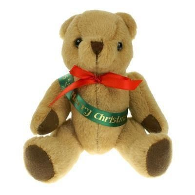 Picture of 20CM HONEY JOINTED BEAR with Sash