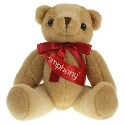 Picture of 25CM HONEY JOINTED BEAR with Sash