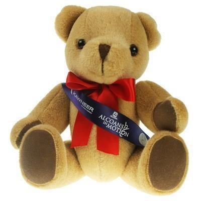 Picture of 30CM HONEY JOINTED BEAR with Sash