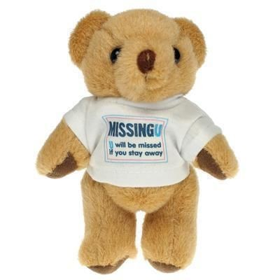Picture of 13CM HONEY JOINTED BEAR with Tee Shirt