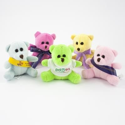Picture of 10CM MINI COLOUR BEAR with Bow