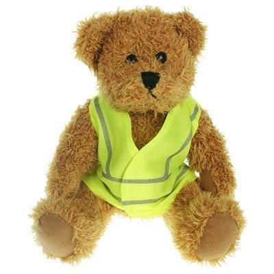 Picture of 25CM SPARKIE BEAR with Hi-vis Vest