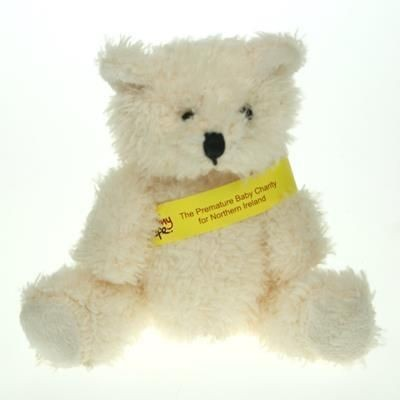 Picture of 12CM SNOWY BEAR with Sash