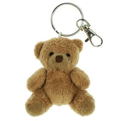 Picture of 8CM PLAIN TUBBY KEYRING BEAR
