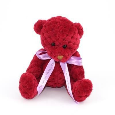 Picture of 15CM BOW BERRY WAFFLE BEAR
