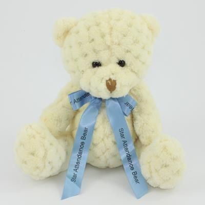 Picture of 15CM BOW BUTTERMILK WAFFLE BEAR